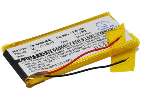 Battery for Sony NW-E403, NW-E405, NW-E407, NW-E503, NW-E505, NW-E507 1-175-558-