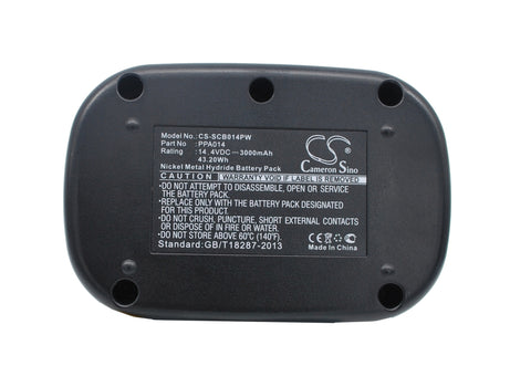 Battery for SENCO DS202, VB0023, VB0034 PPA014 14.4V Ni-MH 3000mAh / 43.20Wh
