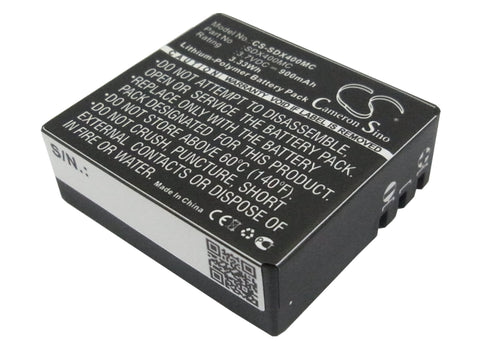Battery for Qumox SJ4000 3.7V Li-ion 900mAh / 3.33Wh