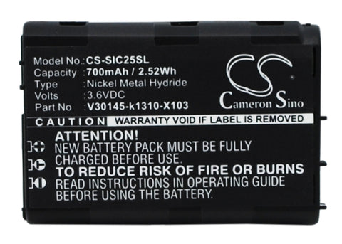 Battery for Siemens C25, C25 Power, C2588, C25e, C28 V30145-k1310-X103 3.6V Ni-M