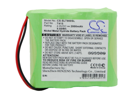 Battery for Schaub Lorentz TL900 T415 4.8V Ni-MH 2000mAh / 9.60Wh