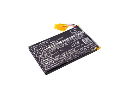 Battery for Sony NWZ-ZX1, Walkman NWZ-ZX1 US453759 3.7V Li-Polymer 1000mAh / 3.7