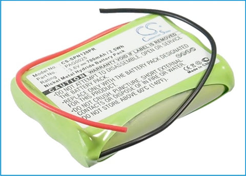 Battery for Signologies 1200, NT30AAK PAG0025 3.6V Ni-MH 700mAh
