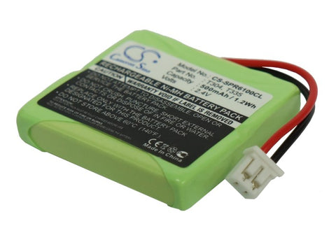 Battery for GP GP0830, GP1033, GPHP70-R05, T304 2.4V Ni-MH 500mAh / 1.20Wh