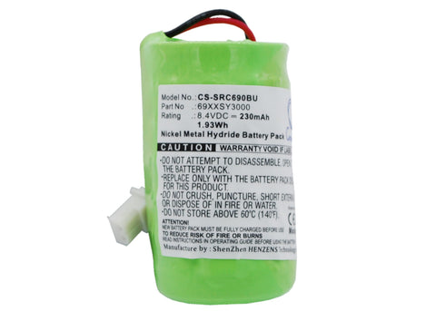 Battery for Symbol VRC6900, VRC6940, VRC6946 69XXSY3000 8.4V Ni-MH 230mAh / 1.93