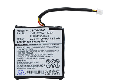 Battery for TomTom 4EH44, Start 20, Via 120, Via 125, Via Live, Via Live 120, Vi