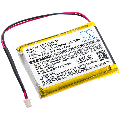 Battery for TELEX PB24N, PB24ND-TX, Transmitter PB24ND-TX GPB 783448 3.7V Li-Pol