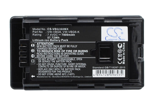 Battery for Panasonic AG-AC130, AG-AC130A, AG-AC130AEJ, AG-AC130AP, AG-AC160, AG