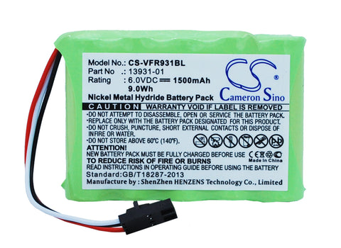 Battery for VeriFone Ruby Console 13931-01 6V Ni-MH 1500mAh / 9.0Wh