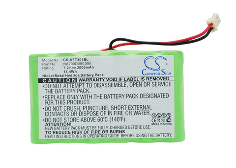 Battery for VeriFone Nurit 3010 NA200D05C095 7.2V Ni-MH 2000mAh