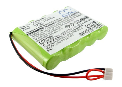 Battery for Welch-Allyn LXi VITAL Signs Printer 4500-505, B11532 6V Ni-MH 2000mA