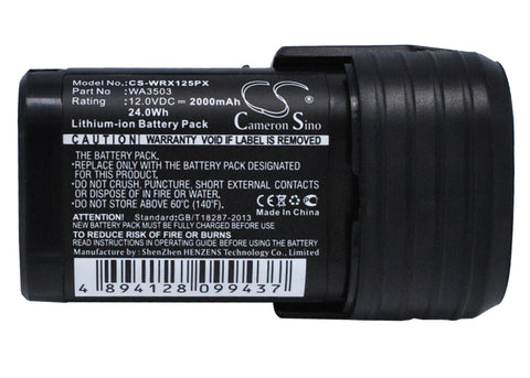 Battery for Worx WU288, WX125, WX125.1, WX125.3, WX125.3 D-Lite, WX125.4, WX125.