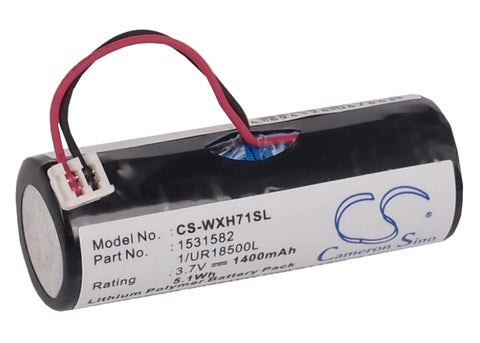 Battery for Wella Xpert HS71, Xpert HS71 Profi, Xpert HS75 1/UR18500L, 1531582 3