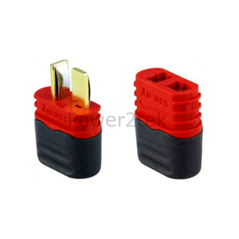 Amass Sheathed T-Plug Dean Male & Female Connectors for RC Lipo Battery
