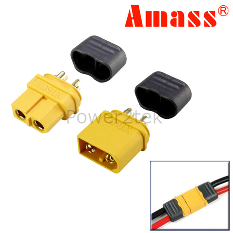 Amass Sheathed XT60+ Male & Female Connectors/Plugs for RC Lipo Battery