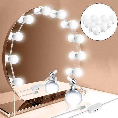 Dimmable LED Lights for Bathroom Dressing Cosmetic Makeup Mirror USB powered