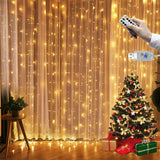 USB 3m x 3m LED Indoor Wedding Window Wall Curtain Fairy Lights with Remote Control Switch