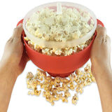Microwave Popcorn Maker Pop Corn DIY Silicone Bowl Bucket Full hand