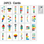 Quick Cups Game for Kids Speed Training Sports Stacking Cup Set 24 Cards 30 Cups Cards