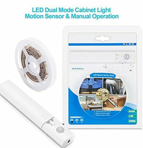 1m Kitchen Cabinet Wardrobe Motion Detect Sensor Activated LED Strip Rope Light