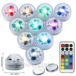 Submersible RGB Underwater Aquarium Tank Multi Color Waterproof LED Night Lights