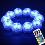 Submersible RGB Underwater Aquarium Tank Multi Color Waterproof LED Night Lights in Blue Color