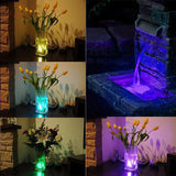 Submersible RGB Underwater Aquarium Tank Multi Color Waterproof LED Night Lights in Use