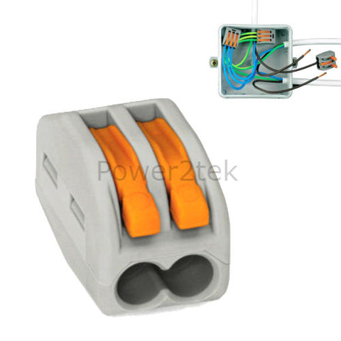 Wago 2 way Secure Wire Connector Terminal Block Cage Clamp Connection UK