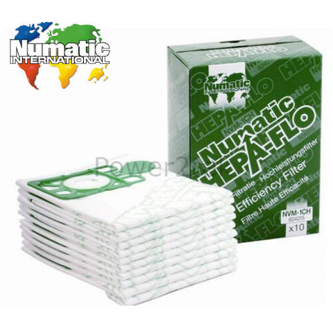 10 x Genuine Numatic Henry NVM-1CH Vacuum Cleaner Bags