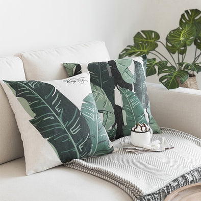 Palm Leaves Cushion Covers, Pillow Covers, Galisto, Galisto - MTB Supply