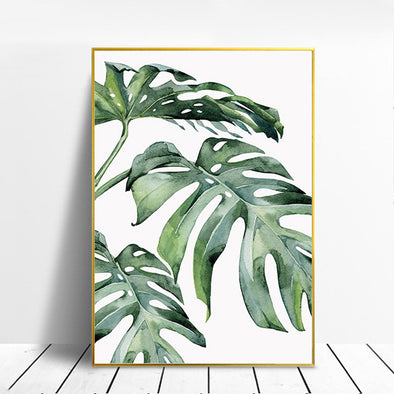 Tropical Green Leaves Canvas Poster, Posters, Galisto, Galisto - MTB Supply