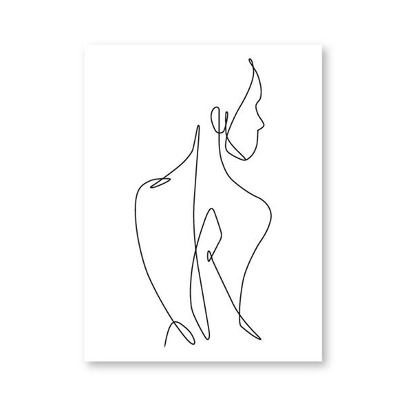 Female Body Figure Line Art Drawing, Posters, Galisto, Galisto - MTB Supply
