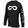 """GO ALL DAY"" Black Long-sleeve Shirt (Big Logo)"