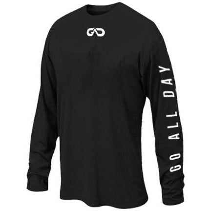 """GO ALL DAY"" Black Long-sleeve Shirt (Small)"
