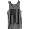 """USA FLAG"" Unisex Tank (Heather Grey)"