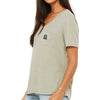 Women's Flowy Pocket Tee (Olive)