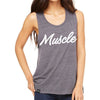 Women's Flowy MUSCLE Tank (Grey)
