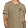 CREST Wide Neck TriBlend Tee (Olive)