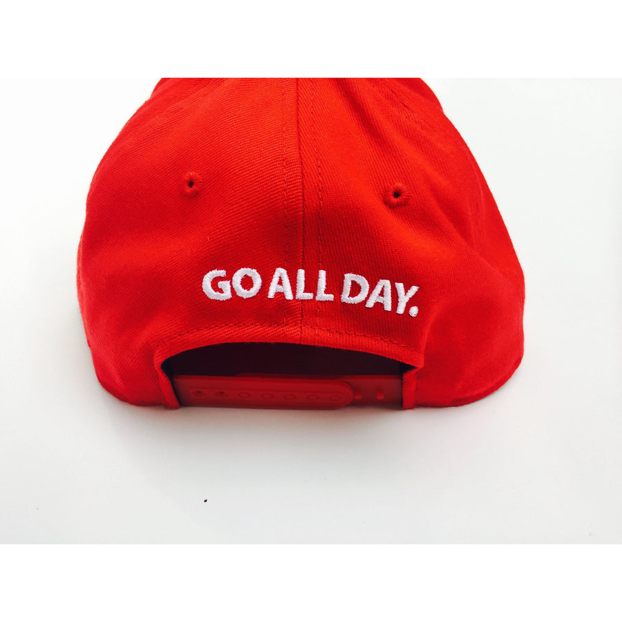 GO ALL DAY® Logo Snapback Hat (Red)