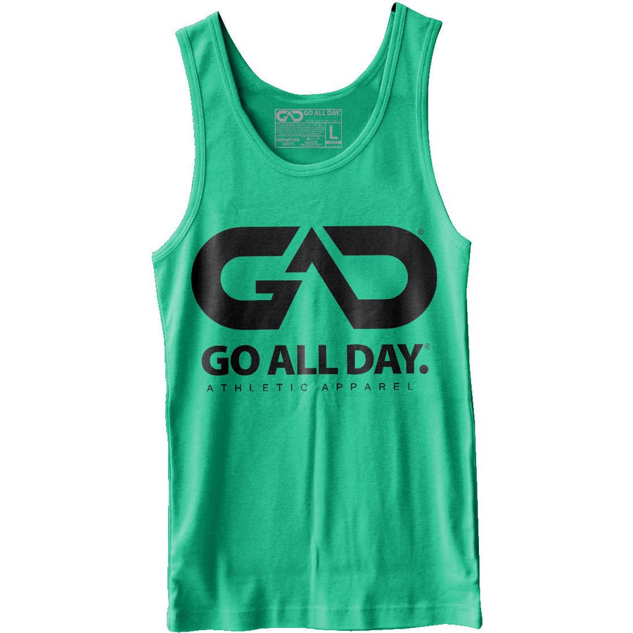 GO ALL DAY® Unisex Tank (Kelly Green)