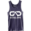 GO ALL DAY® Unisex Tank (Navy)