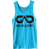 GO ALL DAY® Unisex Tank (Neon Heather Blue)