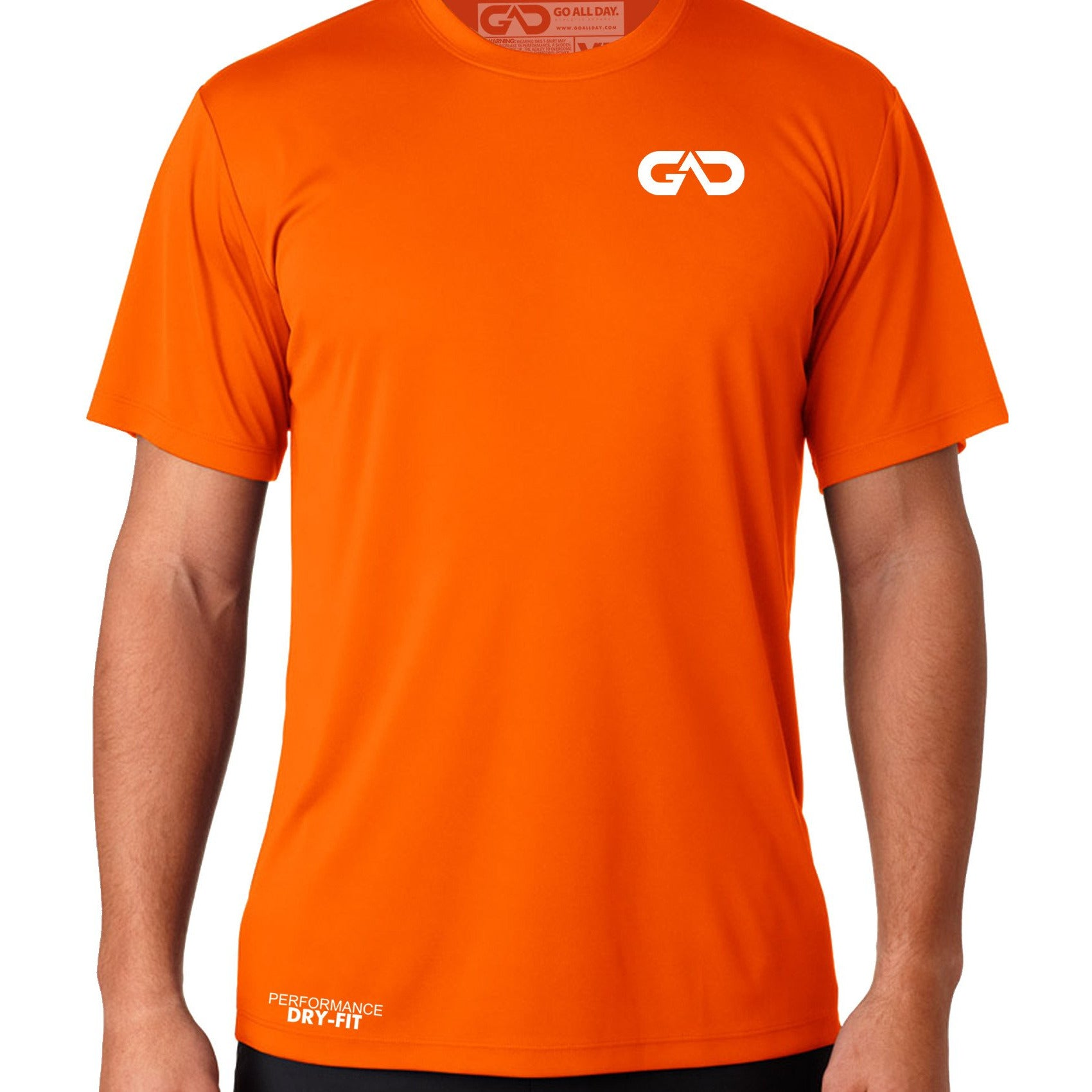 4ae1a9083 DRY-FIT Mens Tee (Neon Orange) Performance - GO ALL DAY ...