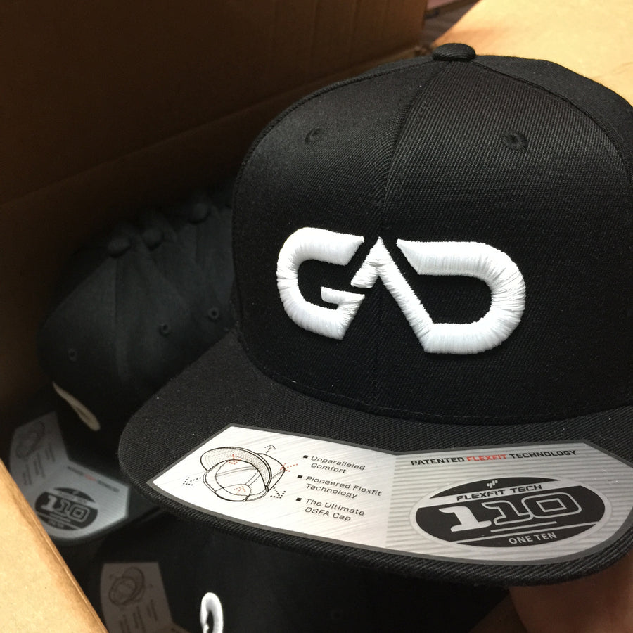 GO ALL DAY® Logo Snapback Hat (Black)