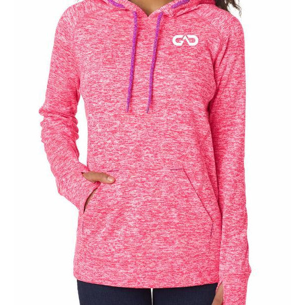 "Women's ""Cosmic"" Hoodie Fleece (Coral Pink)"
