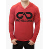 """THE CLASSIC"" Lightweight TriBlend Hoodie 2.0 (Red)"