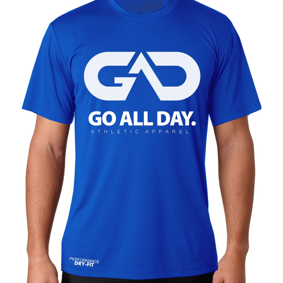 DRY-FIT Mens Tee (Blue) Performance