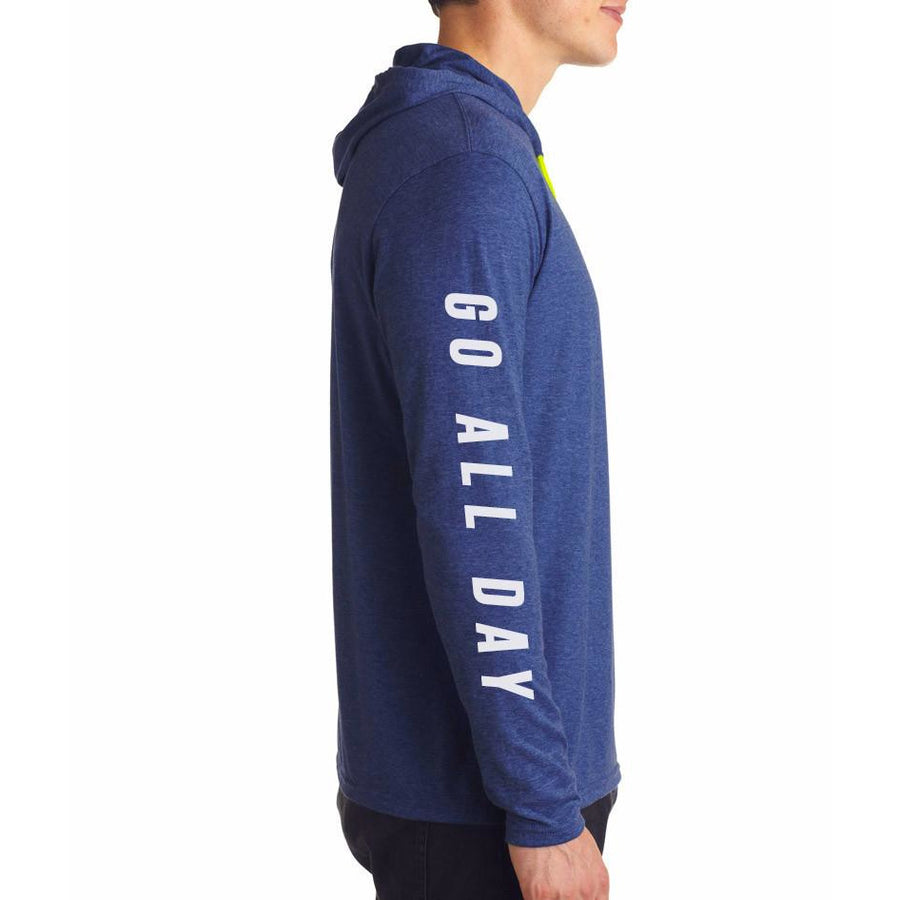 "Men's ""COSMIC"" Lightweight Hoodie Tee (Royal Blue)"