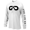 """GO ALL DAY"" White Long-sleeve Shirt (Big Logo)"