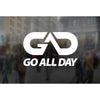 "GO ALL DAY® Small Stickers / Decals (5.5""x3.5"")"